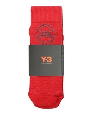 Y-3 Çorap Kırmızı